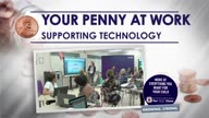 Your Penny at Work: Supporting Technology