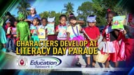 Characters Develop at Literacy Day Parade