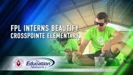 FPL Interns Beautify Crosspointe Elementary