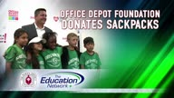 Office Depot Foundation Donates Sackpacks