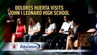 Dolores Huerta Visits John I Leonard High School