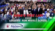 Japan's First Lady Visits Loggers' Run Middle School